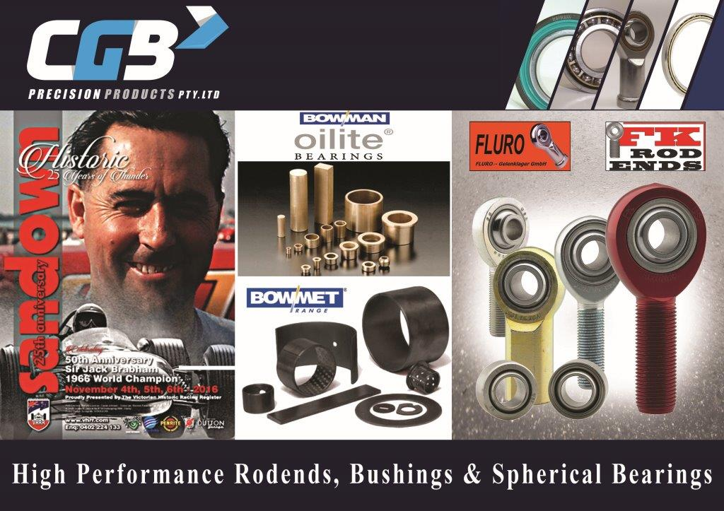CGB Rod Ends Bushes and Spherical Bearings at Sandown Historic